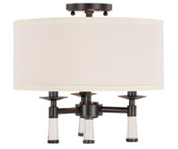 Crystorama 8863-OR_CEILING Baxter 3 Light Bronze Ceiling