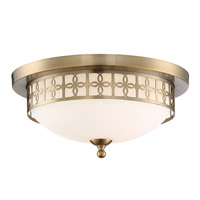 Crystorama ANN-2103-VG Anniversary 2 Light Gold Ceiling