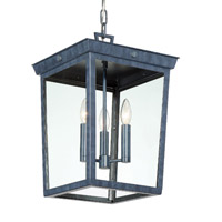 Crystorama BEL-A8065-GE Belmont 3 Light Graphite Pendant