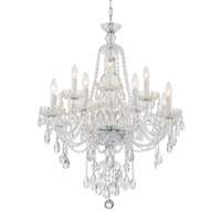 Crystorama CAN-A1312-CH-CL-SAQ Candace 12 Light Chandelier