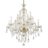 Crystorama CAN-A1312-PB-CL-MWP Candace 12 Light Brass Chandelier
