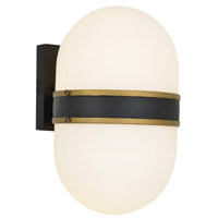 Crystorama Brian Patrick Flynn Capsule 2 Light Matte Black Textured Gold Wall