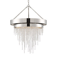 Crystorama CLA-A3206-PN-CL-MWP Clarksen 6 Light Nickel Chandelier