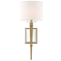 Crystorama CLI-231-AG Clifton Brass Wall Light