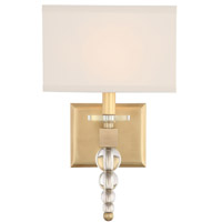 Crystorama CLO-8892-AG Clover Brass Wall Light
