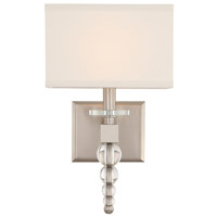 Crystorama CLO-8892-BN Clover Nickel Wall Light
