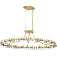 Crystorama CLO-8897-AG Clover 12 Light Brass Chandelier