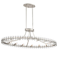 Crystorama CLO-8897-BN Clover 12 Light Nickel Chandelier