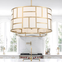 Crystorama Danielson 6 Light Gold Chandelier