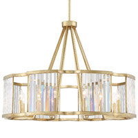 Crystorama DAR-1018-DT Darcy 8 Light Twilight Chandelier