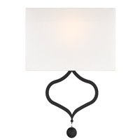 Crystorama DER-401-BF Derby 2 Light Black Wall