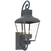 Crystorama DUM-9803-GE Dumont 3 Light Graphite Outdoor Wall