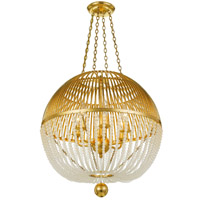 Crystorama DUV-626-GA Duval 6 Light Gold Chandelier