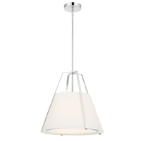 Crystorama Fulton 3 Light Polished Nickel Pendant