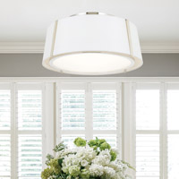 Crystorama Fulton 3 Light Nickel Ceiling