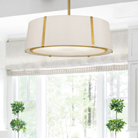 Crystorama Fulton 6 Light Gold Chandelier