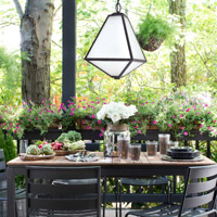 Crystorama Glacier Outdoor 3 Light Chandelier