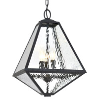 Crystorama GLA-9705-WT-BC Glacier 3 Light Black Chandelier