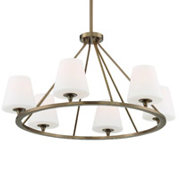 Crystorama KEE-A3006-VG Keenan 6 Light Gold Chandelier