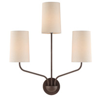 Crystorama LEI-203-DB Leigh 3 Light Bronze Wall