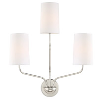 Crystorama LEI-203-PN Leigh 3 Light Nickel Wall