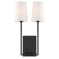 Crystorama LEN-252-BF Lena 2 Light Black Wall