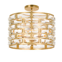 Crystorama MER-4865-GA_CEILING Meridian 5 Light Gold Semi-Flush