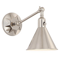 Crystorama MOR-8800-PN Morgan Nickel Wall Light