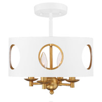Crystorama ODE-700-MT-GA_CEILING Odelle 4 Light Gold Ceiling