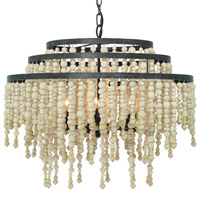 Crystorama POP-A5076-FB Poppy 6 Light Bronze Chandelier