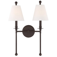 Crystorama RIV-383-DB Riverdale 2 Light Bronze Wall