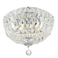 Crystorama Roslyn 3 Light Chrome Ceiling