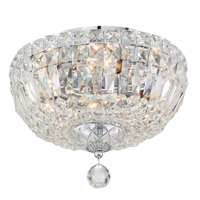 Crystorama ROS-A1004-CH-CL-MWP Roslyn 4 Light Ceiling