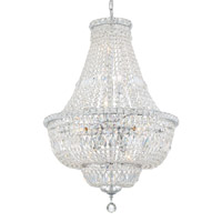 Crystorama ROS-A1009-CH-CL-MWP Roslyn 9 Light Chandelier