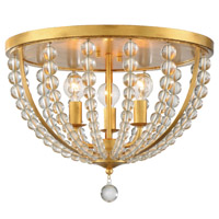 Crystorama ROX-A9000-GA Roxy 3 Light Gold Ceiling