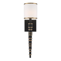 Crystorama SLO-A3601-VG-BF Sloane Gold Black Wall Sconce