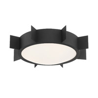 Crystorama Solas 3 Light Black Forged Ceiling
