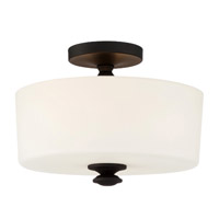 Crystorama TRA-A3302-BF Travis 2 Light Black Ceiling