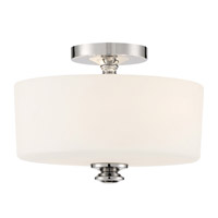 Crystorama Travis 2 Light Polished Nickel Ceiling