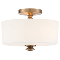 Crystorama TRA-A3302-VG Travis 2 Light Gold Ceiling