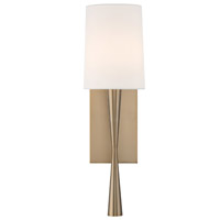 Crystorama TRE-221-AG Trenton Brass Wall Light