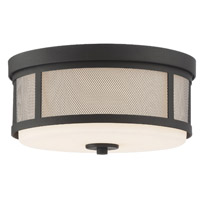 Crystorama Trevor 2 Light Black Forged Ceiling