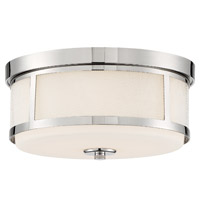 Crystorama TRV-A3802-PN Trevor 2 Light Nickel Ceiling