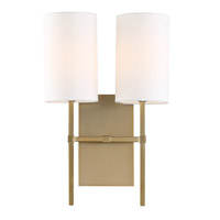 Crystorama VER-242-AG Veronica 2 Light Brass Wall