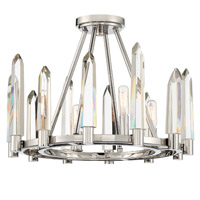 Crystorama Watson 4 Light Polished Nickel Ceiling