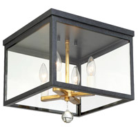Crystorama WES-9900-BK-GA Weston 4 Light Black Gold Ceiling