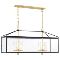Crystorama Weston 8 Light Black Antique Gold Lantern