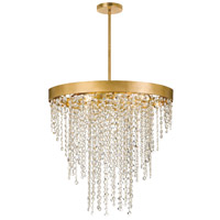 Crystorama WIN-616-GA-CL-MWP Winham 6 Light Gold Crystal Chandelier