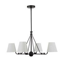 Crystorama Xavier 4 Light Matte Black Chandelier