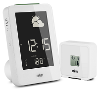 Braun Digital Weather Station Clock White | Braun